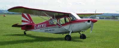 Citabria with new decal at Gloucester airport